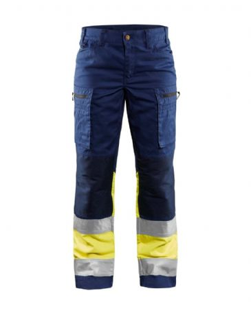 Blaklader 7161 Ladies High Vis Trouser (Navy Blue/Yellow)